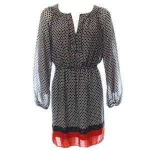 Studio M Black Red Sheath Polka-Dot Dress